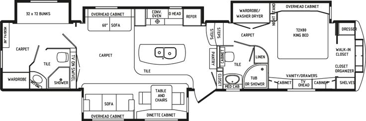 Rv 2 bathroom floor plans view profile rvs pinterest - 5th wheel campers with 2 bedrooms ...