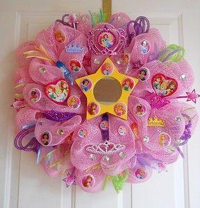 disney princess deco mesh wreath | Disney Princess Theme Deco Mesh Wreath | eBay