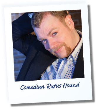 Rufus Hound: funny man, stand-up guy and sporter of a mighty fine moustache. He reviewed Lagació Mountain Residence in South Tyrol.