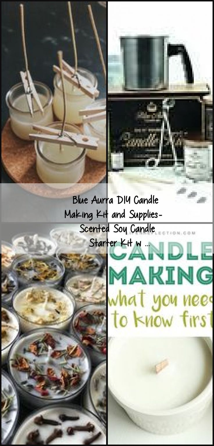 Blue Aurra DIY Candle Making Kit and Supplies Scented Soy