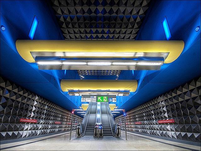 The subwaystation OEZ (Olympia-Einkaufszentrum) by stonepix_de, via Flickr