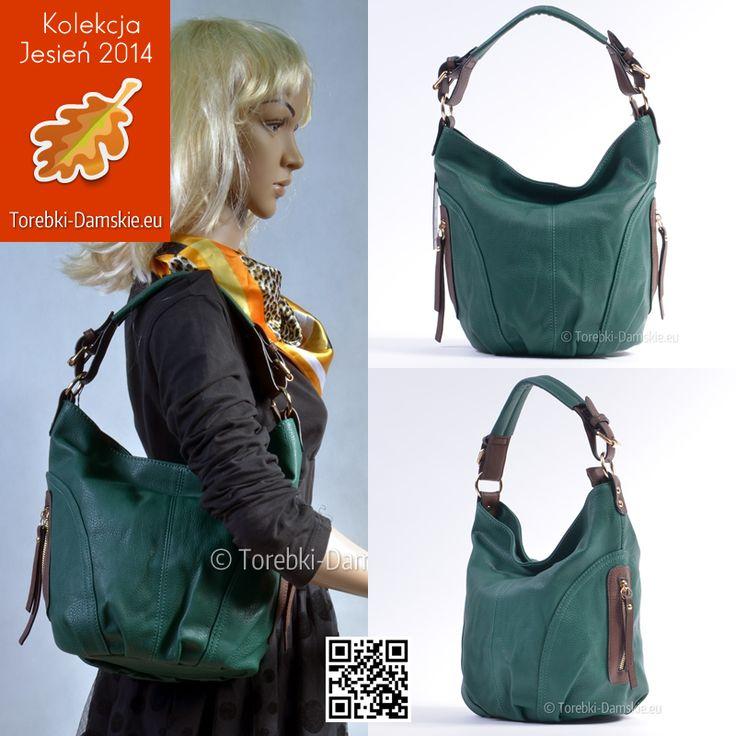 Nowa wersja #torebki w kolorze zielonym - zgrabny, elegancki, poręczny worek. #fashion #handbags