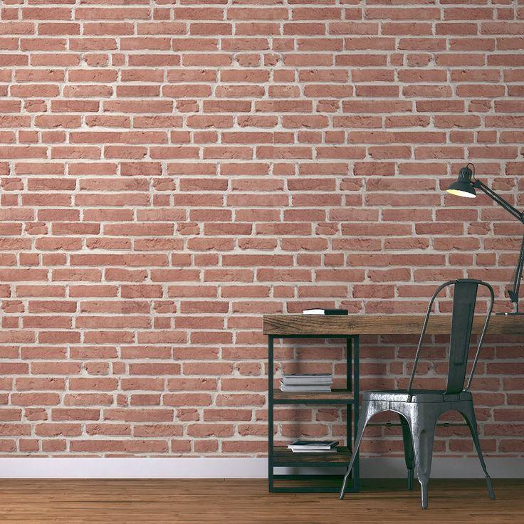 cool papier peint effet brique with papier peint imitation brique leroy merlin. Black Bedroom Furniture Sets. Home Design Ideas