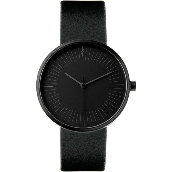 Gravity Black by Simpl Watch Black-on-black ($169) ❤ liked on Polyvore featuring jewelry, watches, unisex jewelry and unisex watches