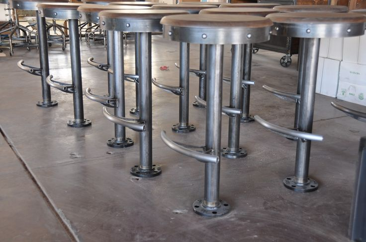 Bolt Down Stools by Vintage Industrial Furniture