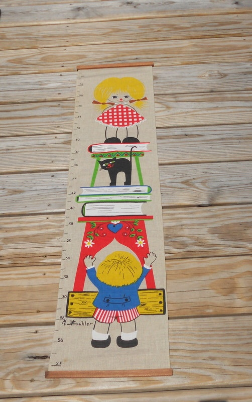 Vintage Fabric Growth Chart M. Buhler Mid by LuluandGandore, $15.00