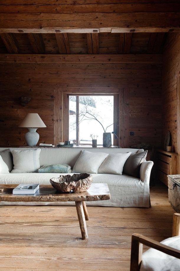 Living room in Axel Vervoordtu0027s winter house