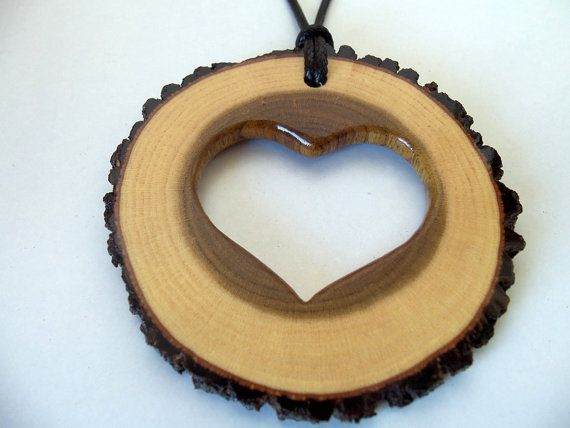 NEW  Handmade Wood Pendant  empty heart  by forestinspiration, $18.00 [Easy and fairly fast to make]