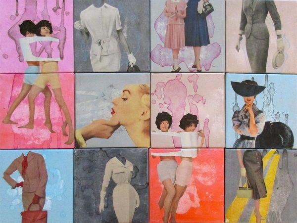 Mosaic 'Elle' - Collage - Original