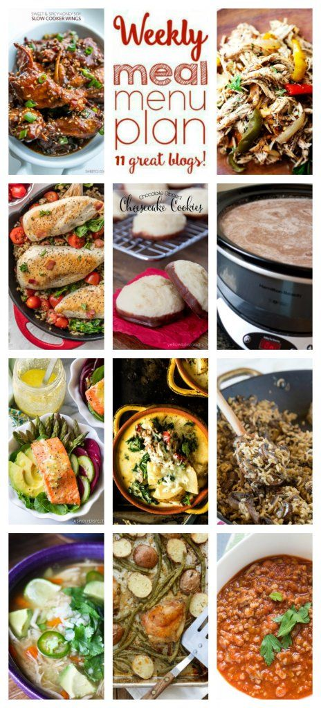 Weekly Meal Plan Week 80 – 11 great bloggers bringing you a full week of recipes including dinner, sides dishes, and desserts!