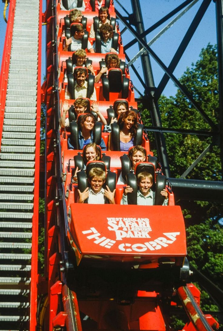 The Cobra rollercoaster at the West Midland Safari Park in 1985