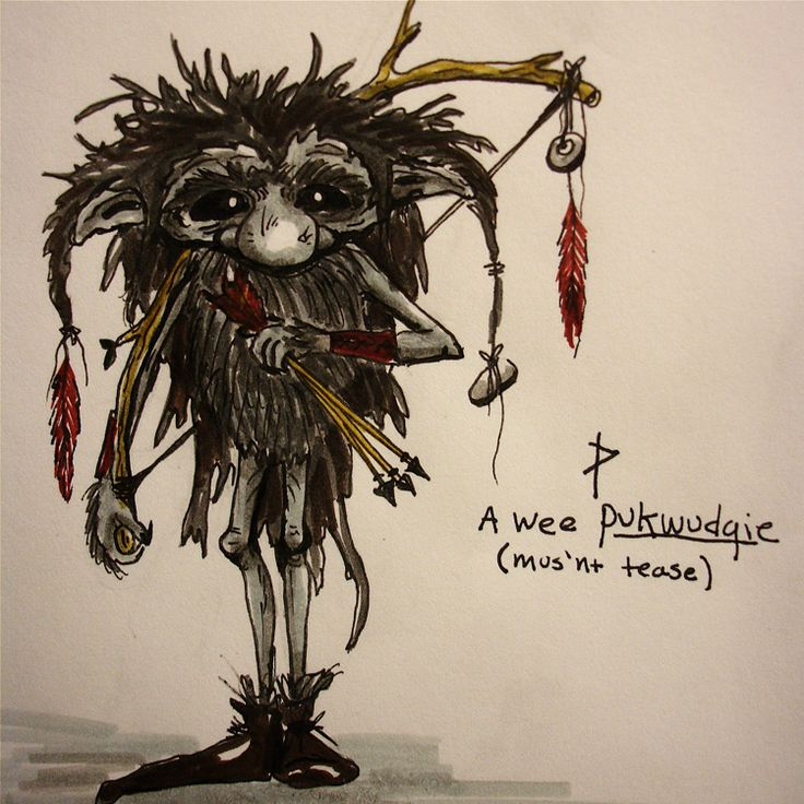 The Pukwudgie: A gremlin type forest creature that often causes mischief and steals food, according to Northeastern Native American folklore