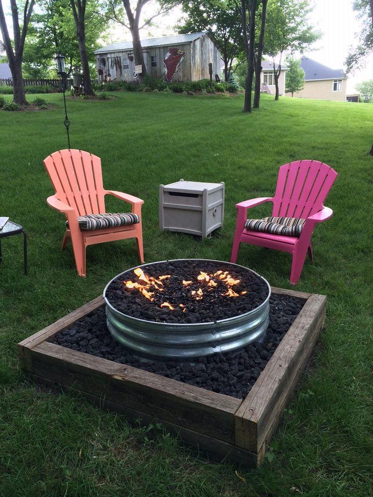 Best 25+ Diy gas fire pit ideas on Pinterest