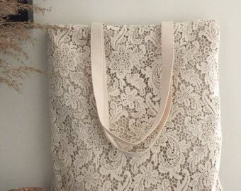 Fatto a mano cotone Shabby Chic Wedding Bag di ShabbyChicLinenC