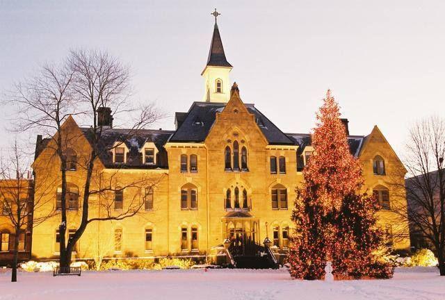 Seton Hall University Christmas Tree, New Jersey, USA