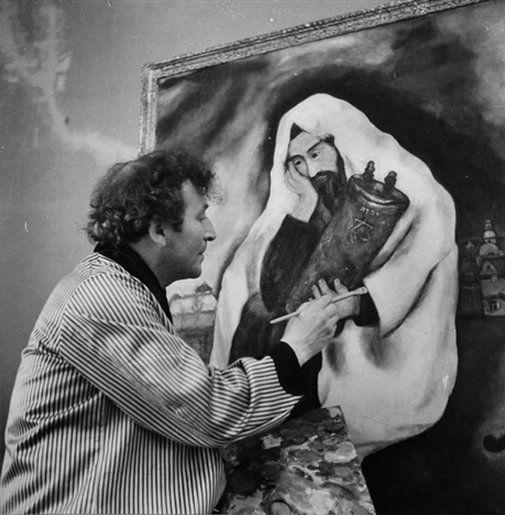 Chagall with Solitude, 1934, Studio Lipnitzki.