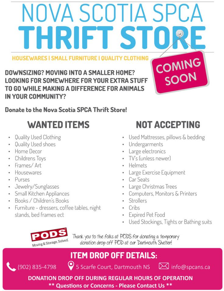 The Dartmouth SPCA Thrift Store!