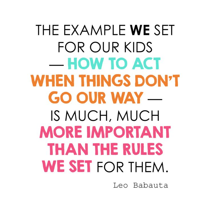 the example we set for our kids — how to act when things don't go our way — is much, much more important than the rules we set for them.