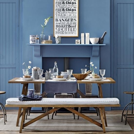 This Blue Gastro Style Dining Room Is Perfect For Family Meal Times Or Entertaining Friends