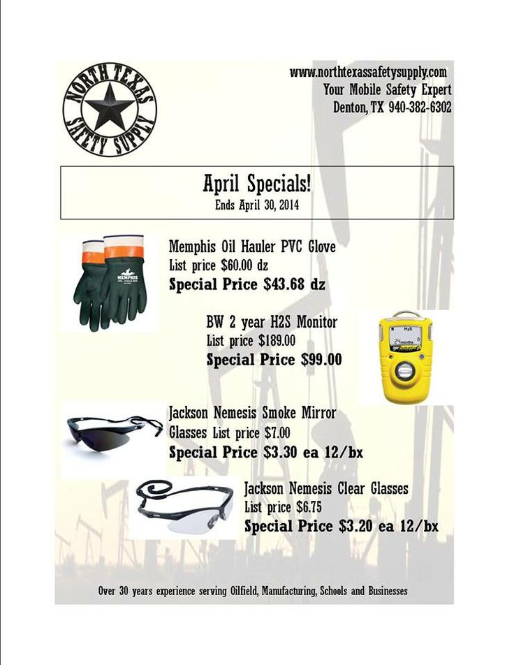 April Specials on Nemesis Safety Glasses, BW H2S monitors