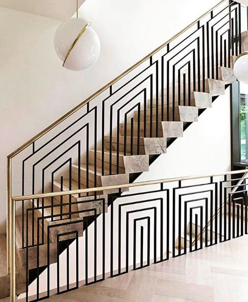 Geometric Stairs Geometric Staircase Melbourne: Thick Cut Stairs - Geometric Railing
