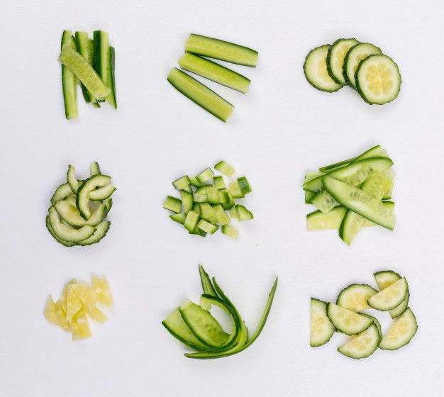 Free Download Top View Cucumber Sliced And Chopped On White Horizontal Free Photo Cucumber Free Photos Photo