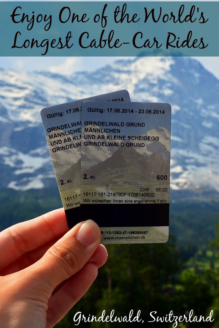 The 30-minute ride from Grindelwald to Mannlichen is a 4,000+ ft (1,287 m) ascent making it one of the longest cable-car rides in the world! The views are OUTSTANDING!