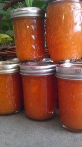 Apricot freezer jam.  Liquid Pectin