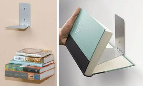pretty coolInvi Shelf, Fun Book Shelves Ideas, Book Shelf, Bookshelf Design, Invisible Bookshelf, Wall Shelves, Invi Bookshelf, Floating Bookshelves, Floating Bookshelf
