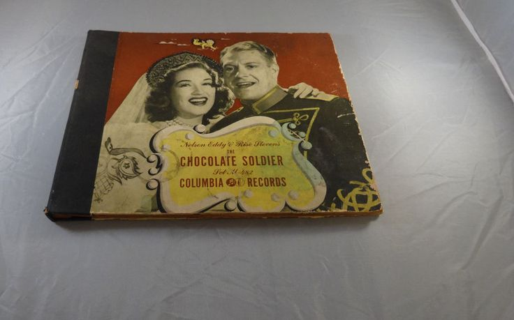 """THE CHOCOLATE SOLDIER, NELSON EDDY, 10"""" COLUMBIA RECORD, M-482 SET OF 3, 78 RPM"""