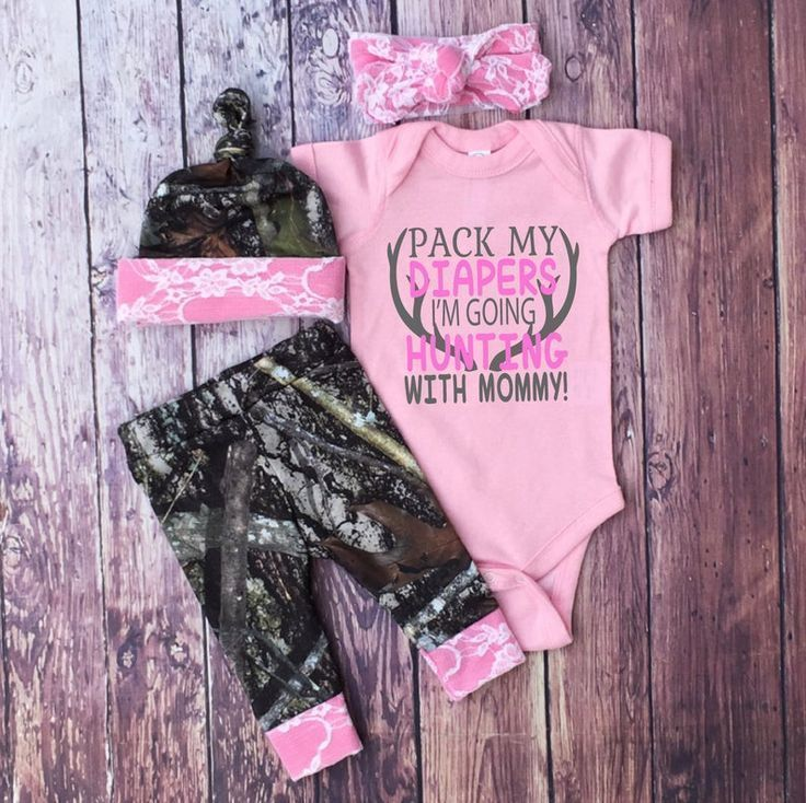 Camo Pregnant Woman Pink for Baby Girl