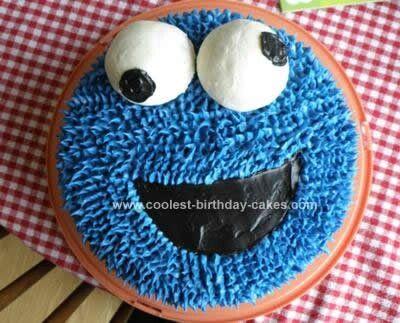 Cute Cookie Monster Cake