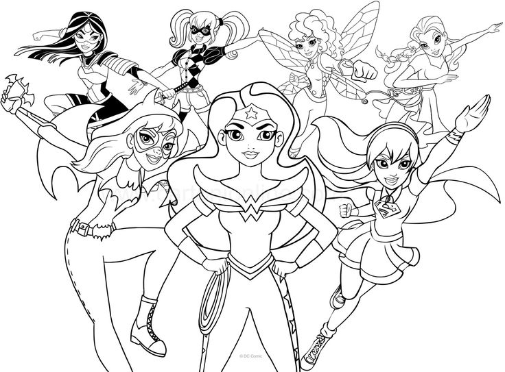 free printable girl superhero coloring pages to color