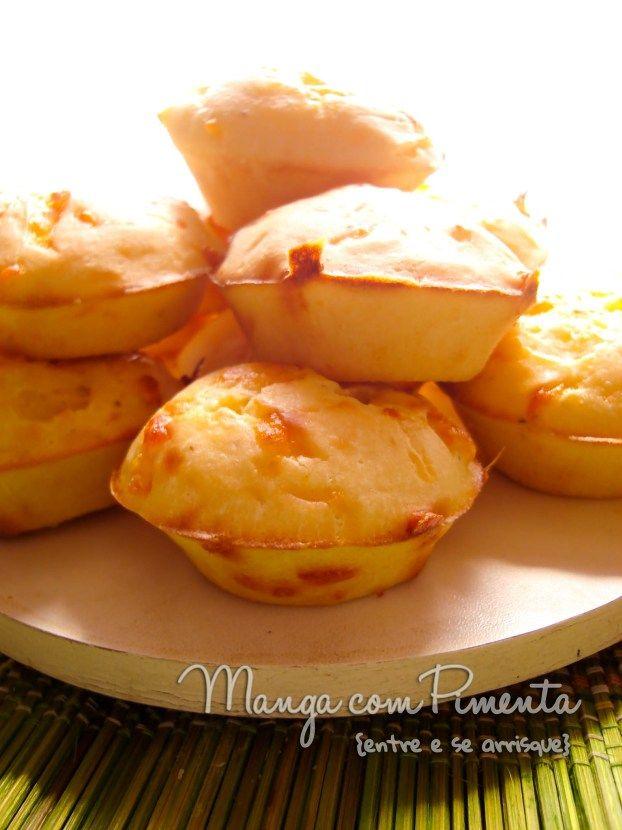 Um pãozinho de queijo mega diferente - Mini cheese popovers (Väikesed juustukohrud, para ver a receita clique na imagem para ir ao Manga com Pimenta.