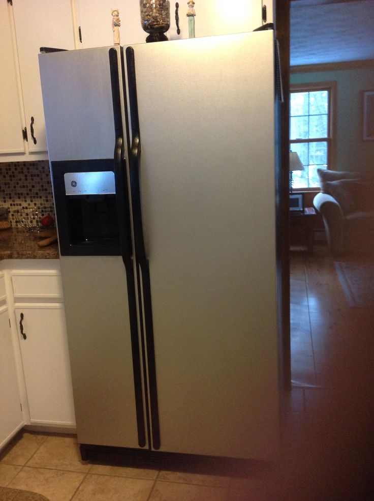 After used thomas liquid stainless steel paint before - Paint for kitchen appliances ...
