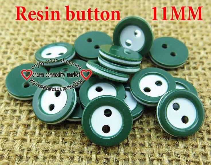 200PCS dark green resin button 11MM SHIRT buttons bulk clothes accessories crafts R-132-9 $2,61