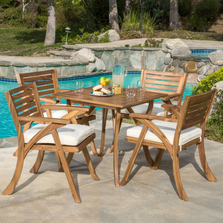 Home Loft Concepts Aegean 5 Piece Dining Set with Cushions. 190 best Furniture and interiors images on Pinterest