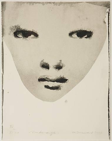 MARLENE DUMAS, UNDER AGE 1996: i also just love the name marlene. marlene marlene marlene.