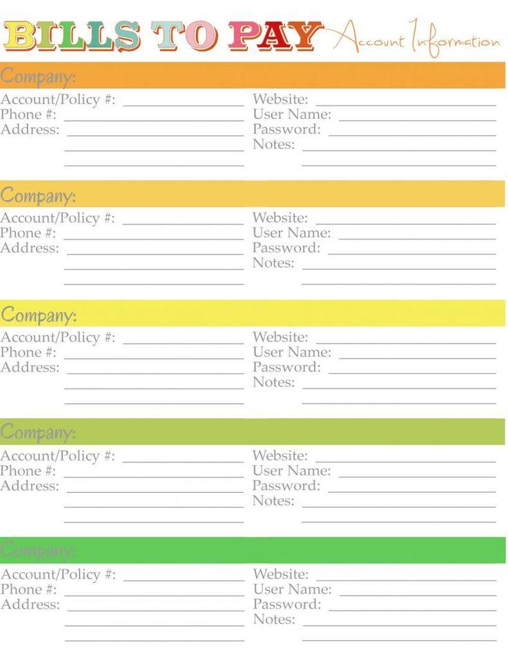Best 20+ Bill template ideas on Pinterest Budget spreadsheet - bills template free
