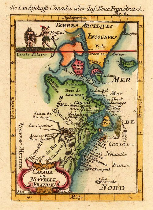 Canada ou Nouvelle France, 1719.