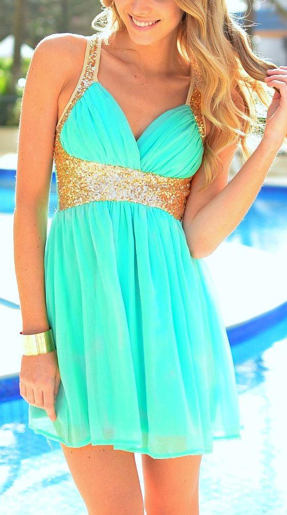 #Mint #sequin #dress