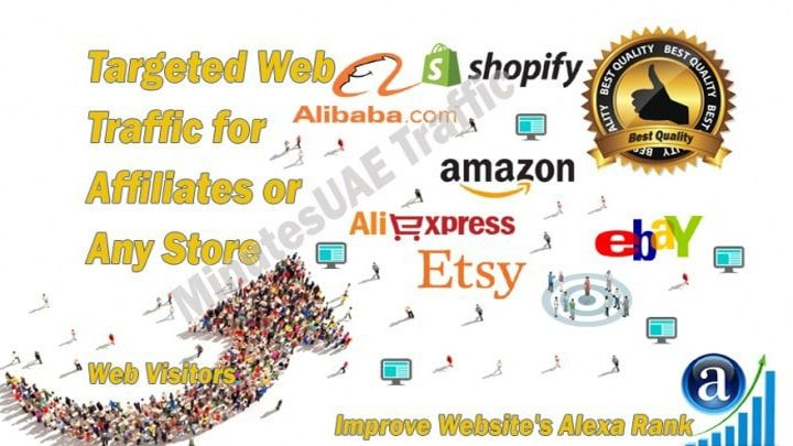 High Quality Web Traffic For Affiliates Amazon Ebay Alibaba
