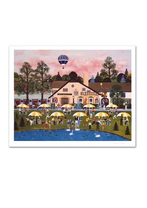 JANE WOOSTER-SCOTT Signed Limited Edition ''Pond at the Inn''