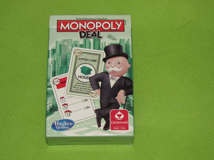 #Monopoly Deal Happy families card game