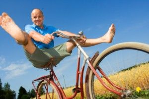 Living Healthy Lifestyle: Ride a bicycle