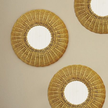 Gold Wire Wall Mirror - Mirrors - Sale