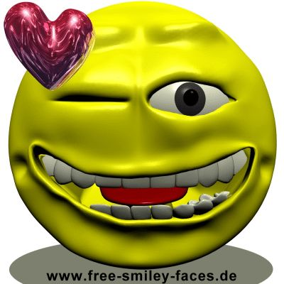 Funny Smiley Faces | Smileys | winking Smiley | Augenzwinkern Smilies | Animated Smileys ...