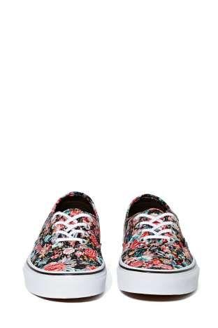 Floral black slim sneaker / by Vans