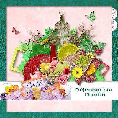 kit Déjeuner sur l'Herbe by Le Scrap de Laeti http://maoscrap.blogspot.it/2015/10/freebie-dejeuner-sur-lherbe.html