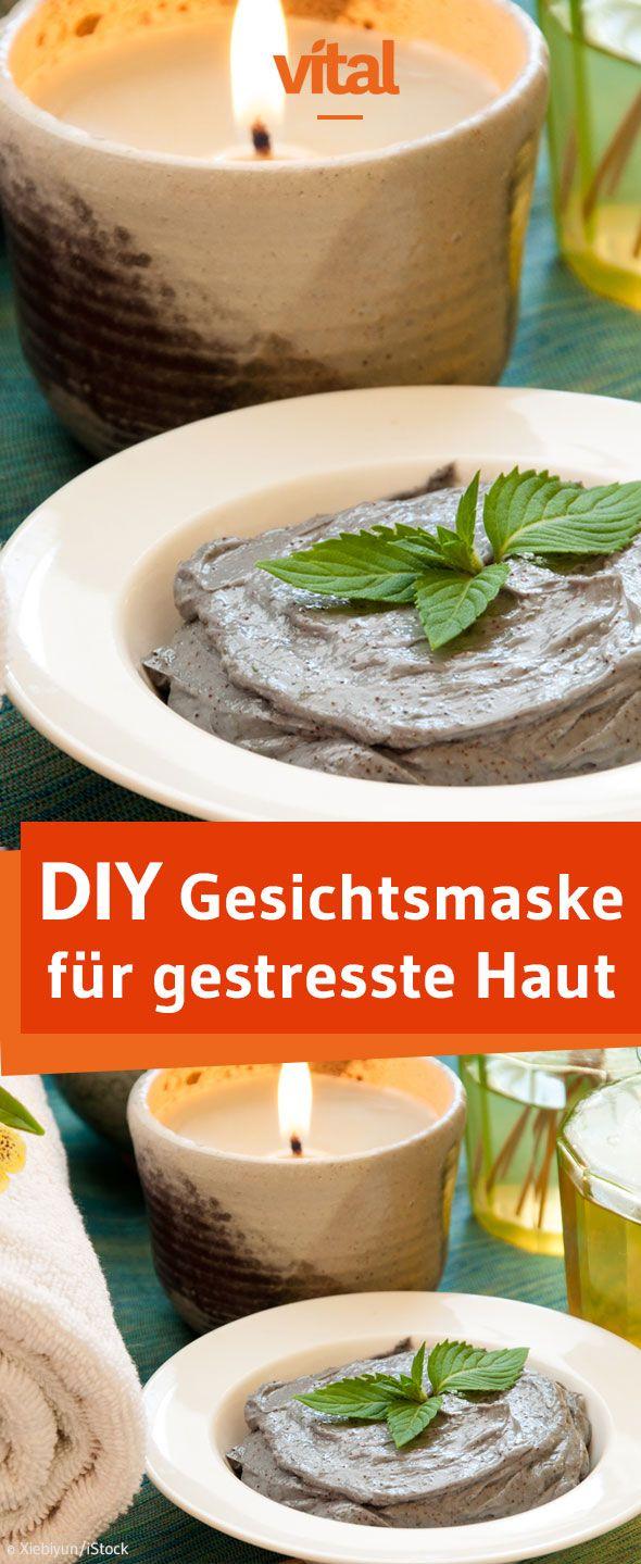Gesichtsmaske für gestresste Haut: Unsere Maske mit Minzblättern, Rosenwasser, Mandelöl und Heilerde beruhigt die Haut und sorgt für einen frischen Teint!